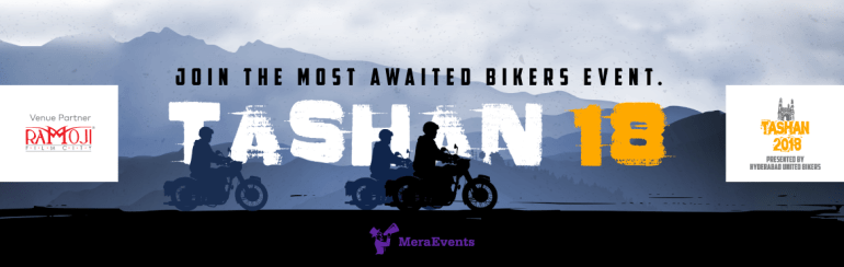 TASHAN 2018 by Hyderabad United Bikers from April 13-15, 2018