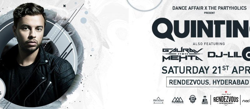 Quintino (DJ MAG #30) Live in Hyderabad on April 21, 2018