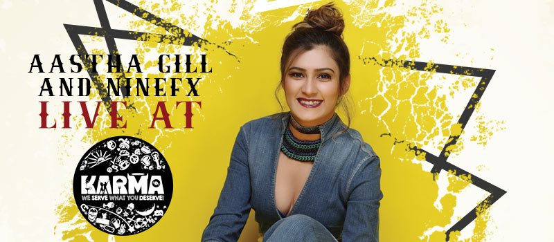 #Karmaturns1 Ft Aastha Gill and Ninefx in Hyderabad