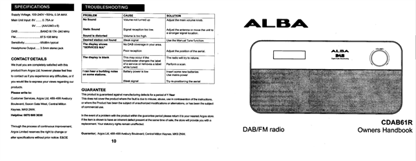 SOLVED: Instructions for setting alarm on Alba PD2 DAB/FM