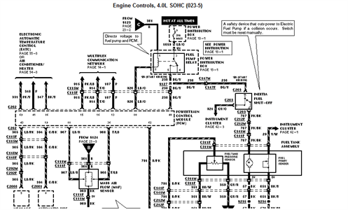SOLVED: Need wiring diagram for ford explorer fuel pump