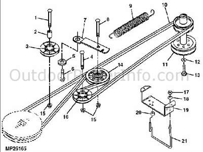 John deere lx277 drive belt diagram Google Search t