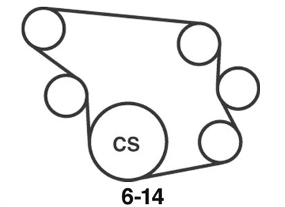 Need diagram of Toyota prado v6 120 series serpentine belt