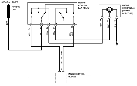 SOLVED: I need a wiring diagram for the radiator fan on a