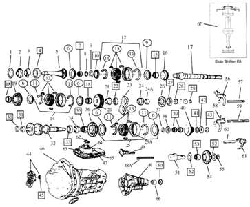 Manual gearbox diagram 1997 bravo 4x4 and itemised parts