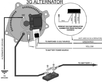SOLVED Wire Diagram For Alternator Please Fixya