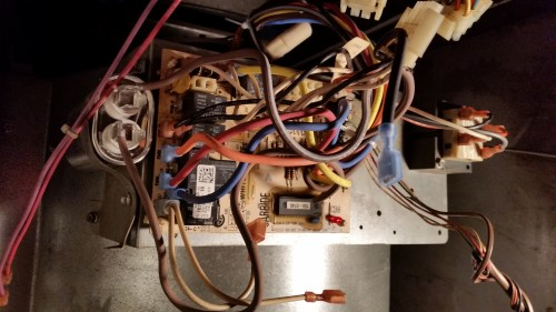 small resolution of elderly man replaced furnace motor but did not mark where the wiring harness wires go can you tell me what the orange and black wires go on the board