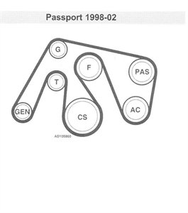 [Diagram To Install Serpentine Belt 1997 Honda Passport