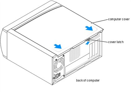 SOLVED: How to remove outside cover on dell dimension 3000