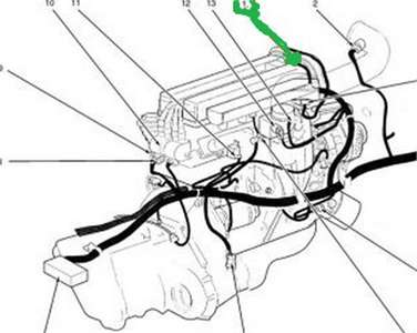 Daewoo nubira crankshaft position sensor location diagram