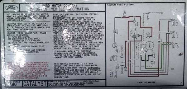 1990 Toyota Pickup Vacuum Hose Diagram