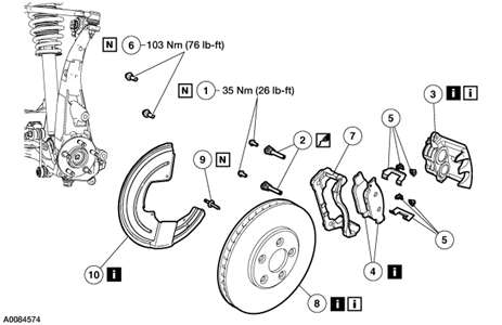 Service manual [2003 Jaguar S Type Rear Caliper Seal