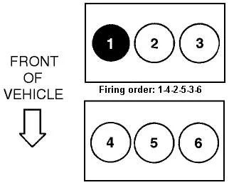SOLVED: Firing order diagrahm for 3.0L 2002 Ford escape