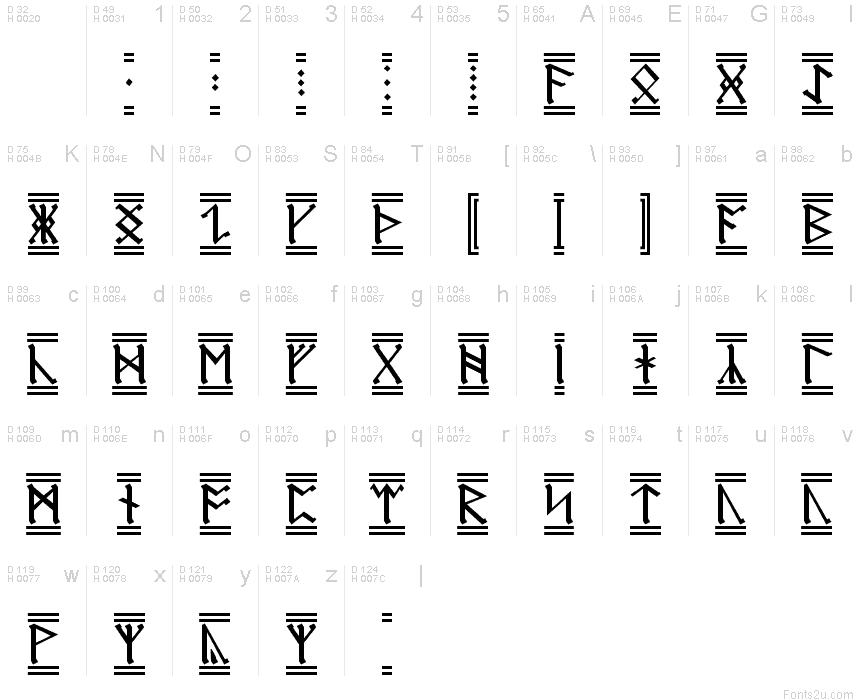 AngloSaxon Runes 2 font