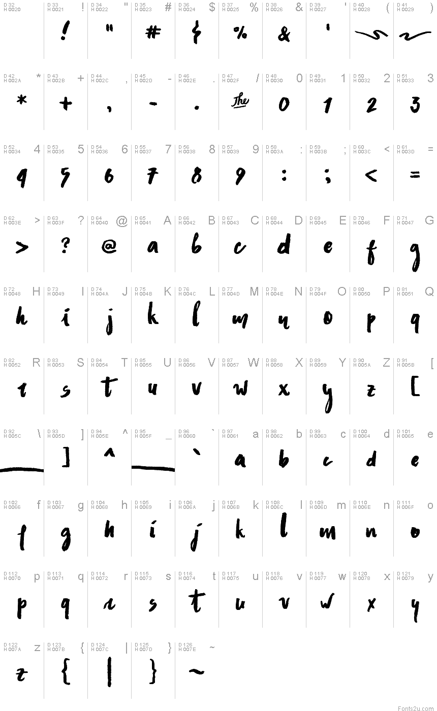 Asphalts Brush font