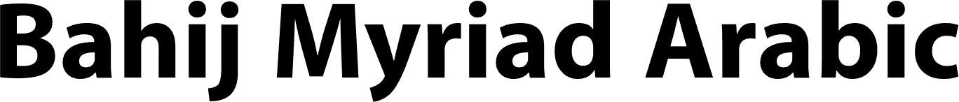 Bahij Myriad Arabic Bold font