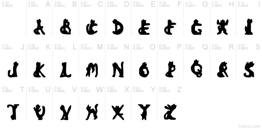 Bad Black Cat font