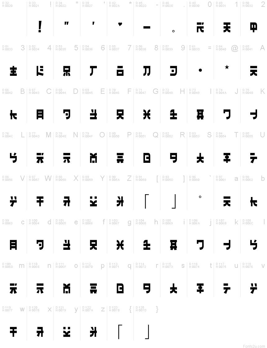 Banzai font