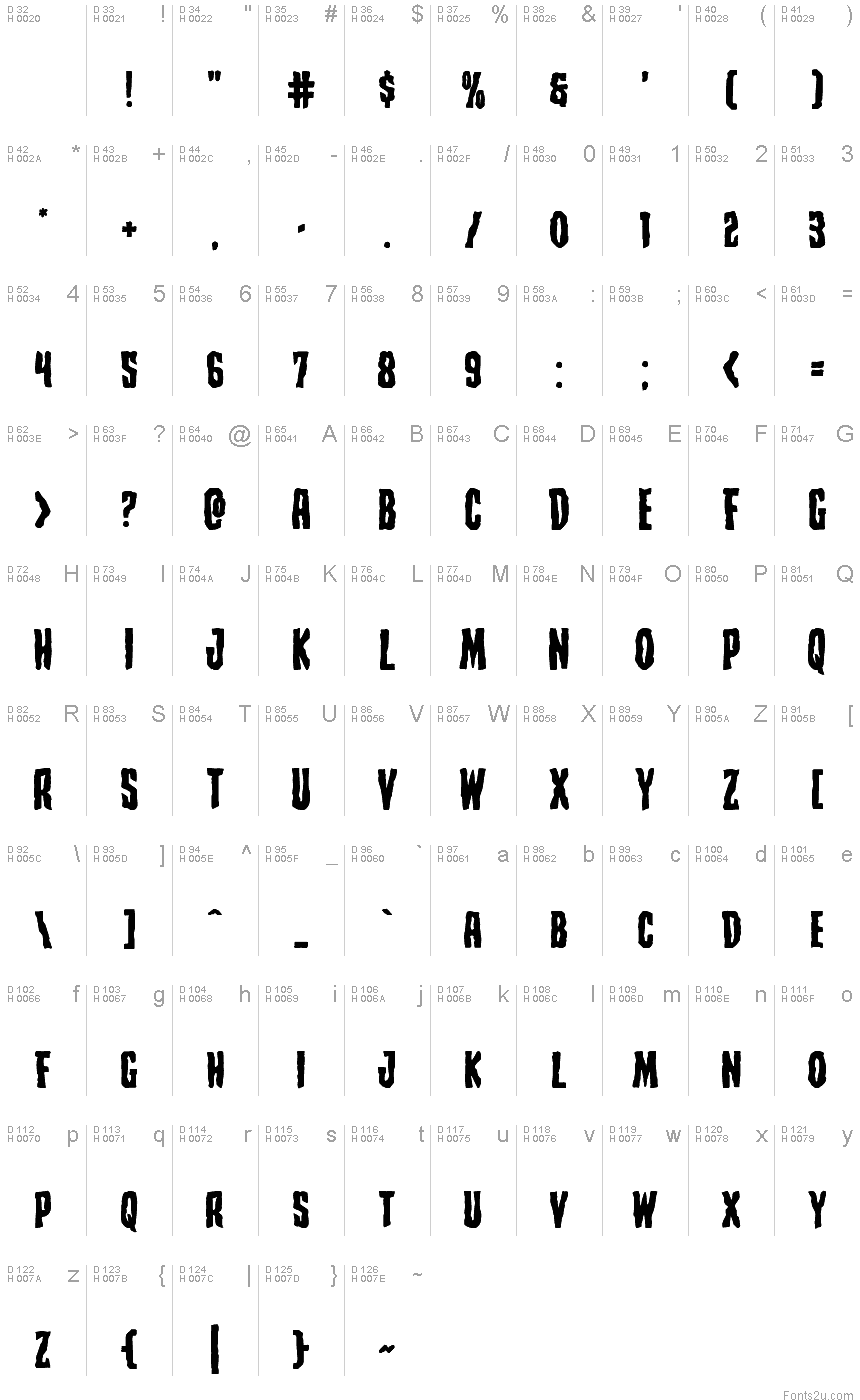 Creepy Crawlers Expanded font