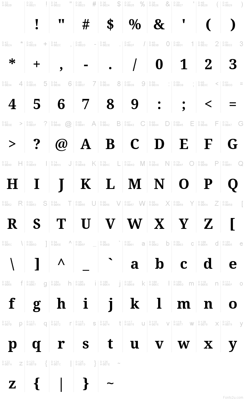 Droid Serif Bold font