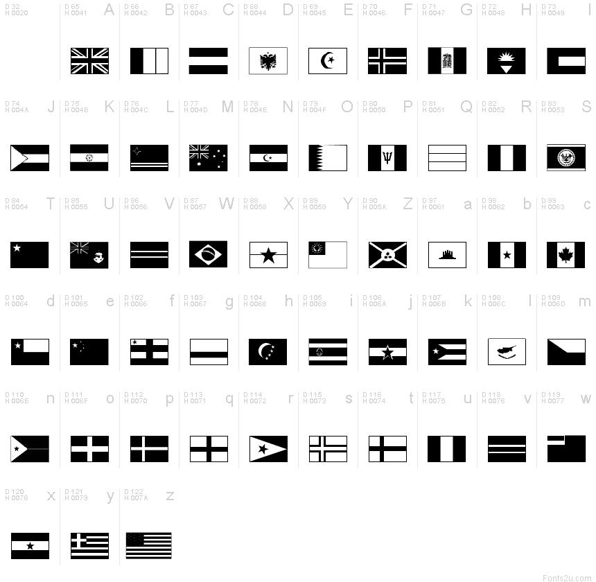 Flags font