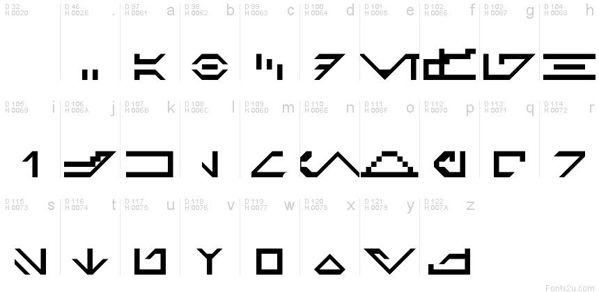 Galactic Basic Standard Regular font