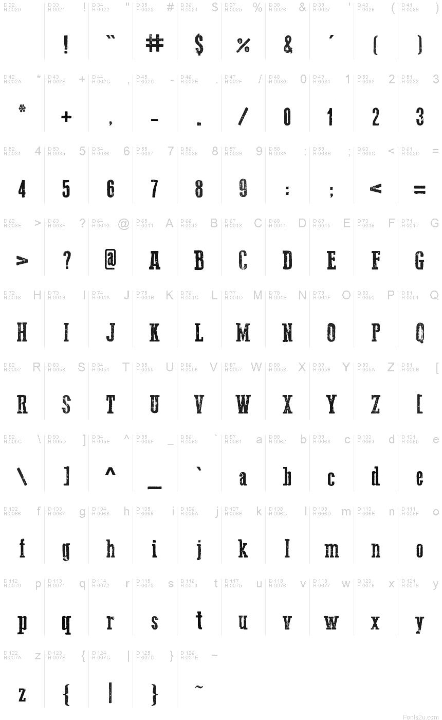 Go 2 Old Western font