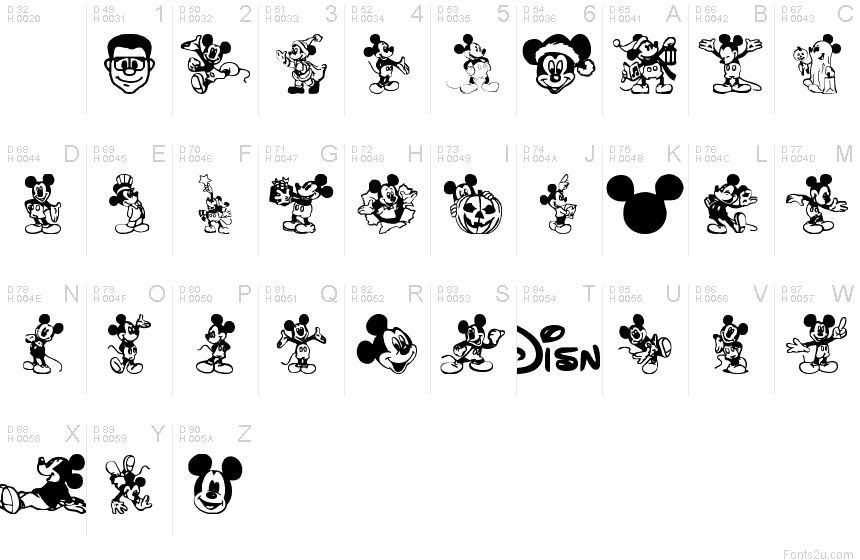 Disney Mickey Font Cake Ideas and Designs