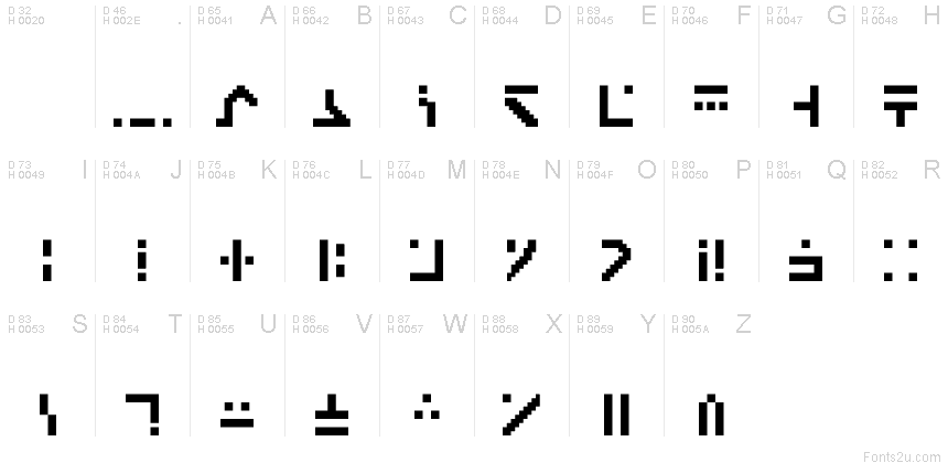 Standard Galactic Alphabet Regular font