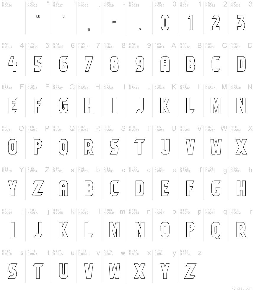 Umbro Outline font