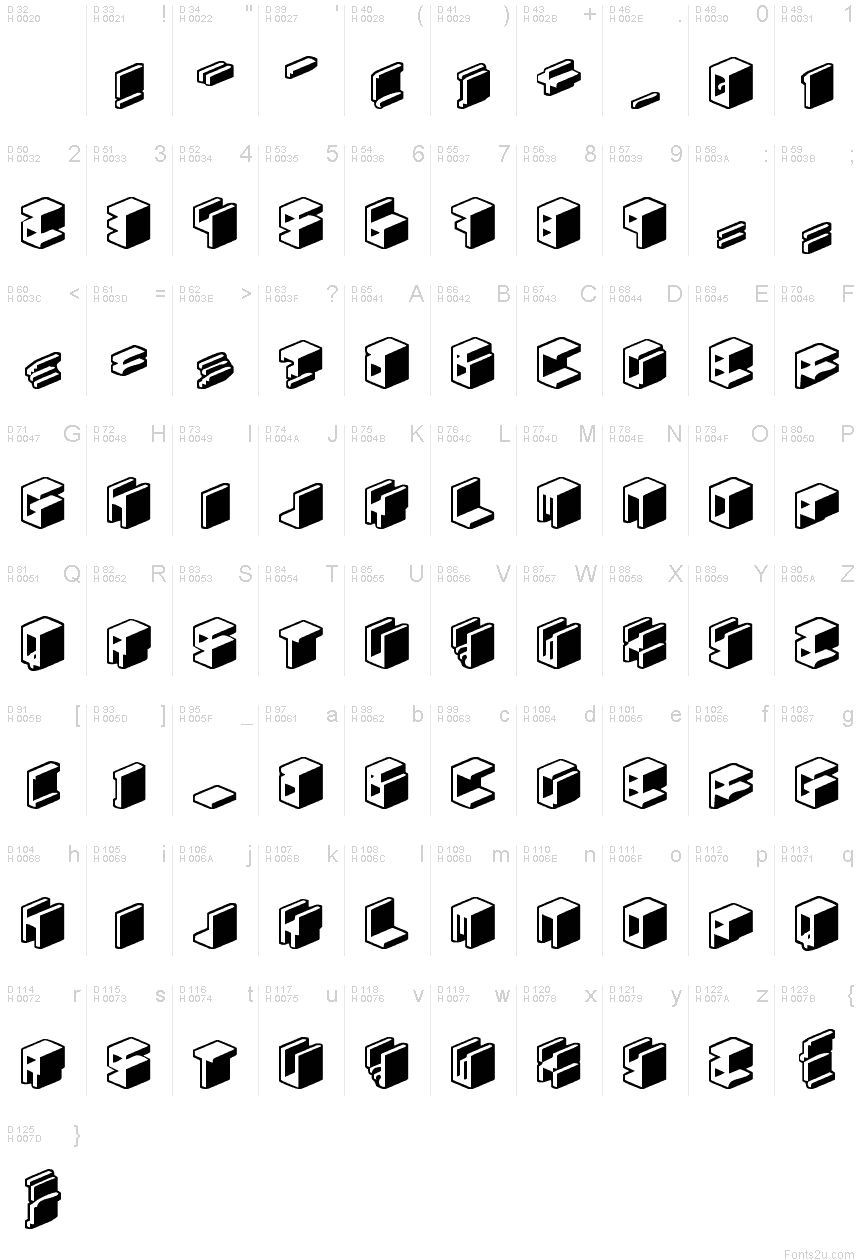 Unicode 0024 font