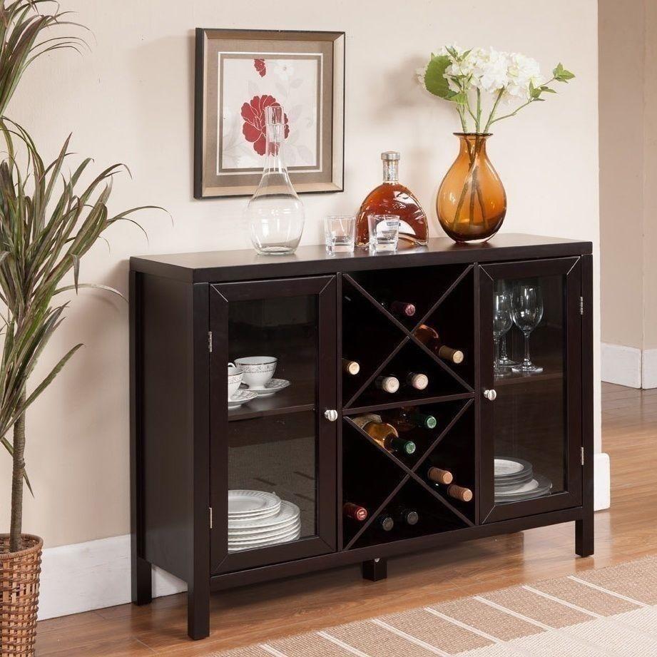 NEW Dry Bar Storage Holds 16 Bottles Wine Rack Wooden Liquor Cabinet Espresso  eBay
