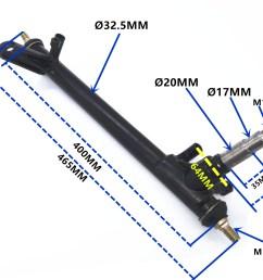 250cc sahara buggy front stub axle strut kinroad buggy left hand [ 2048 x 1544 Pixel ]