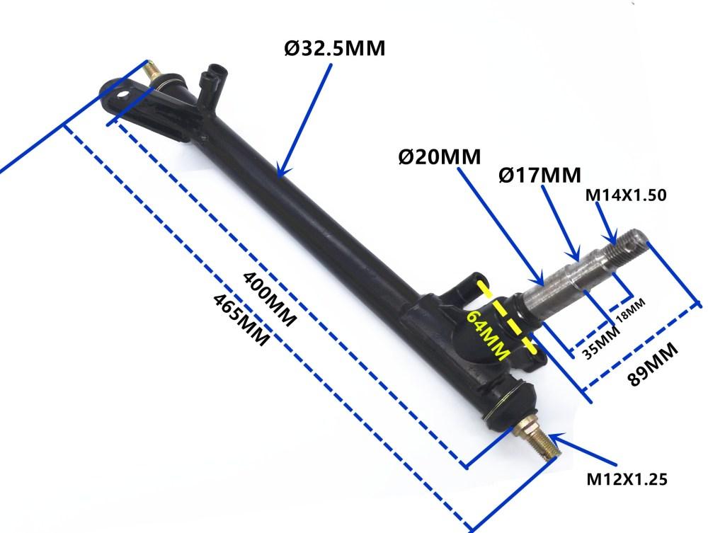 medium resolution of 250cc sahara buggy front stub axle strut kinroad buggy left hand