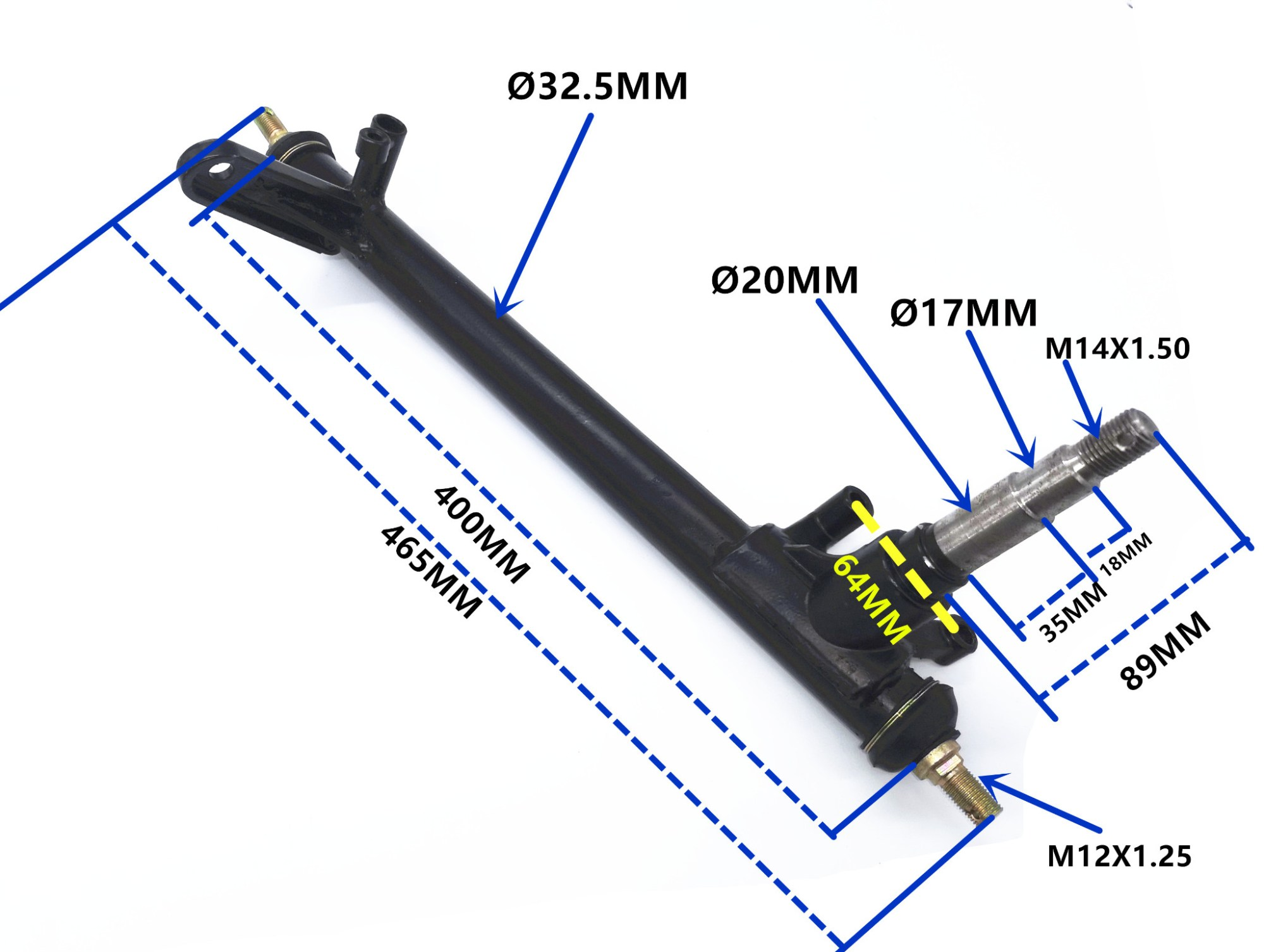 hight resolution of 250cc sahara buggy front stub axle strut kinroad buggy left hand