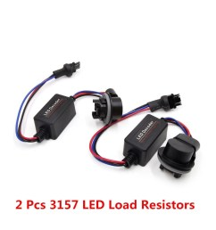 2pcs 3157 led hid error free canbus tail load resistors wiring harness decoder [ 1000 x 1000 Pixel ]