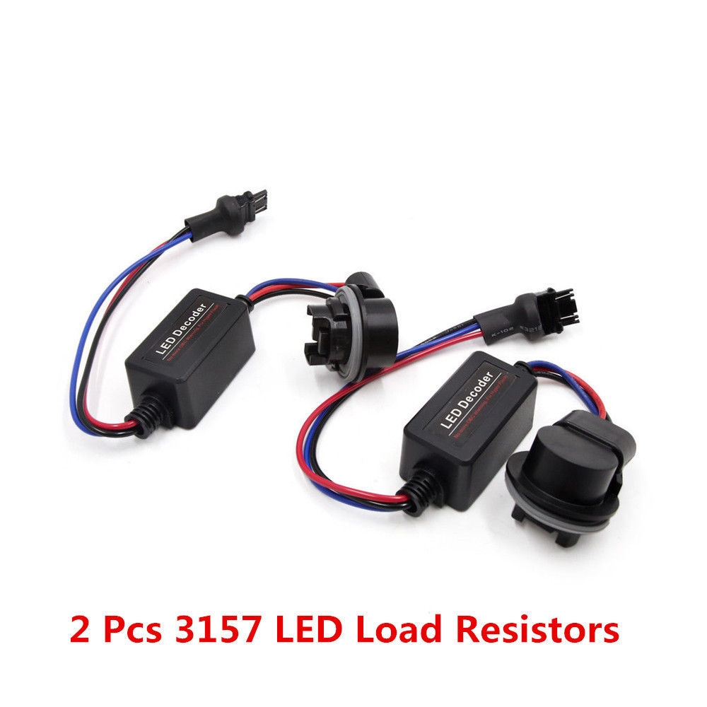 hight resolution of 2pcs 3157 led hid error free canbus tail load resistors wiring harness decoder
