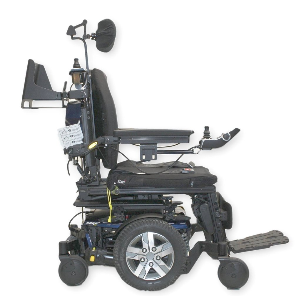 quantum wheelchair behind the chair promo codes q6 edge 2 0 ilevel power 2017 tilt recline legs mid wheel drive electric 18 x20 seat attendant controls vent tray
