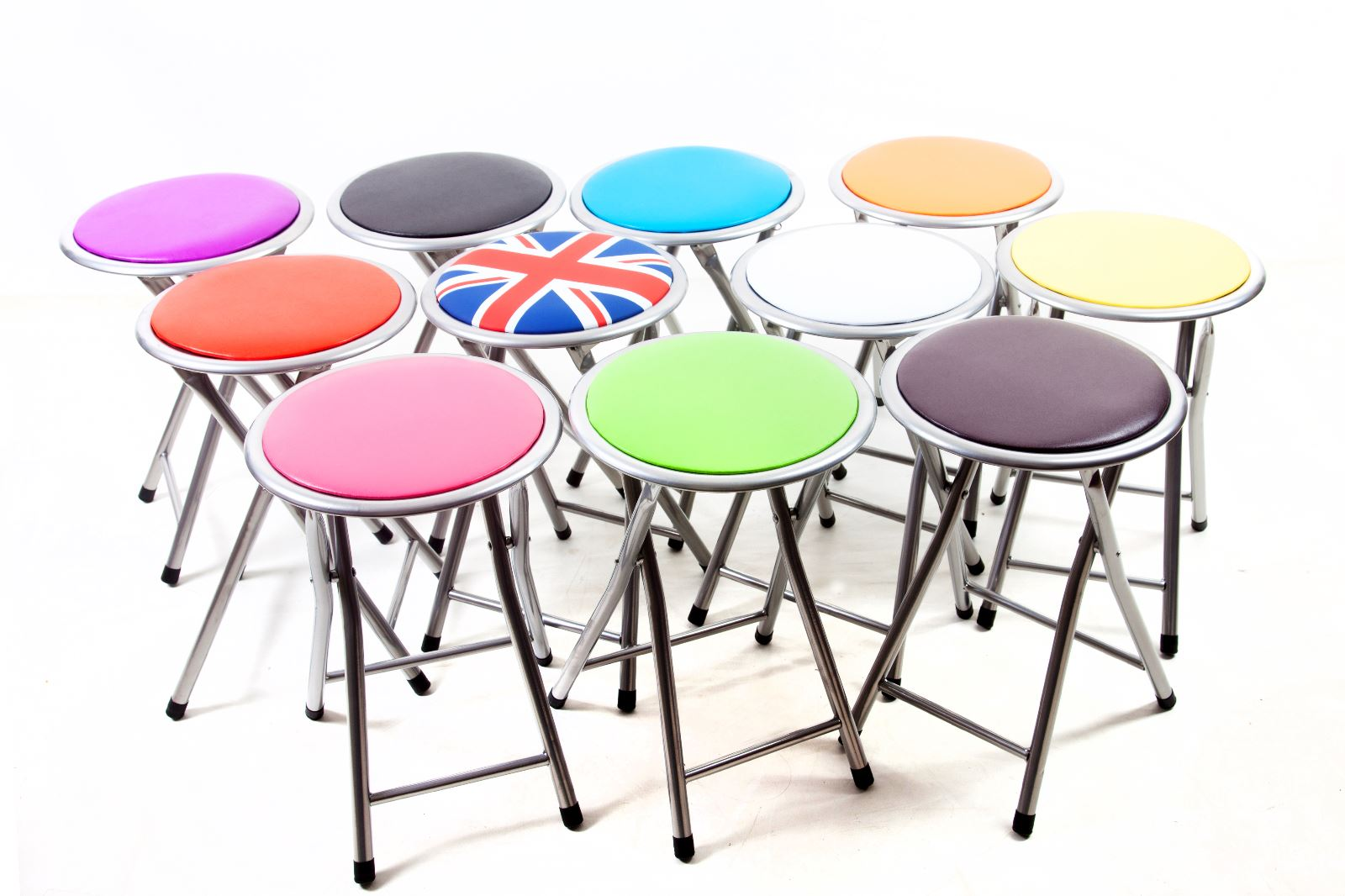 Small Fold Up Chair Details About Round Folding Padded Stool Foldable Chair Small Breakfast Fold Up Chairs Office