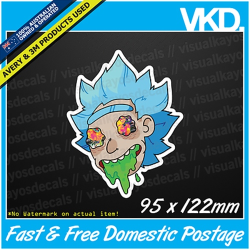 stoned rick sticker decal