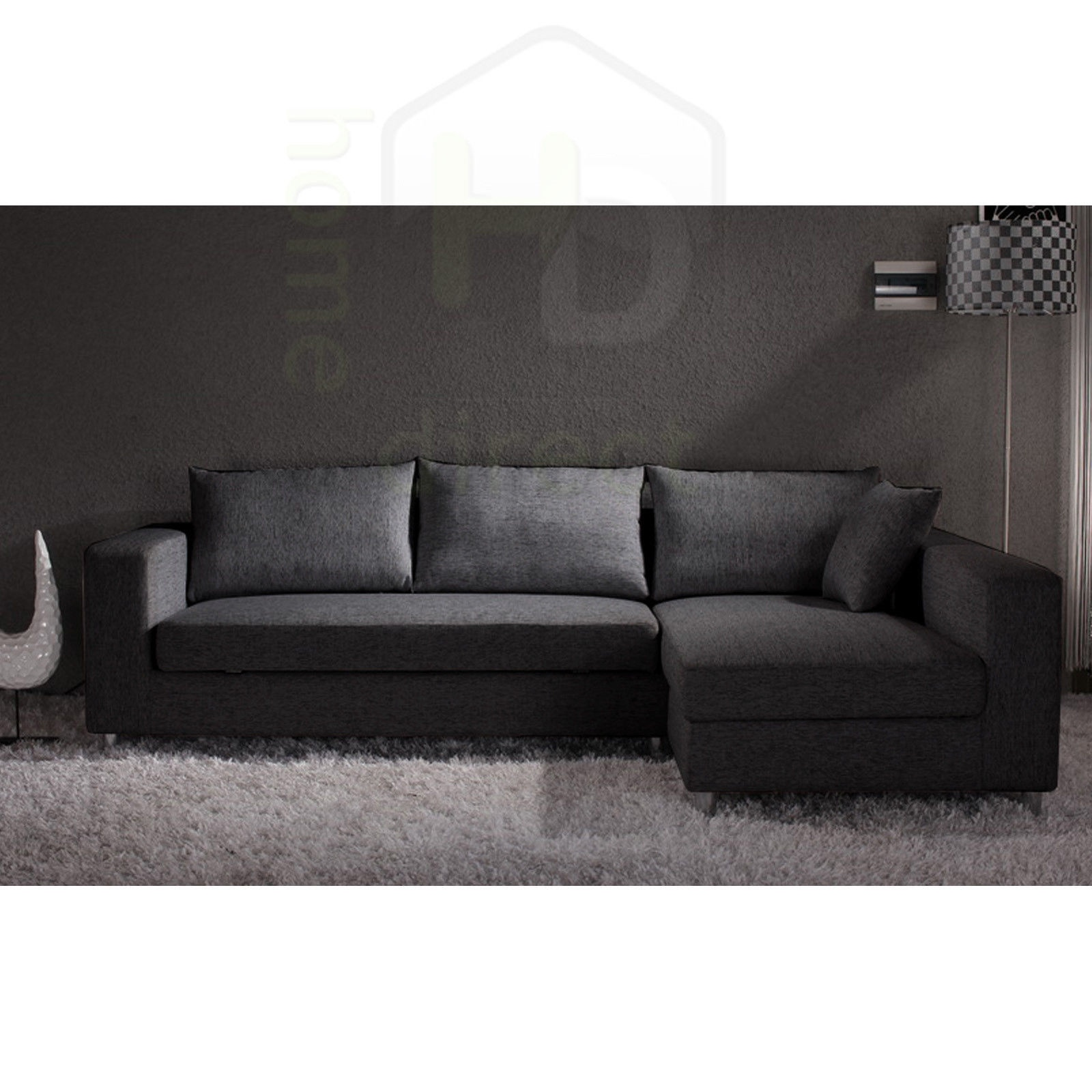 lounge suite sofa bed largo woodland kyra modern retro fabric couch chaise