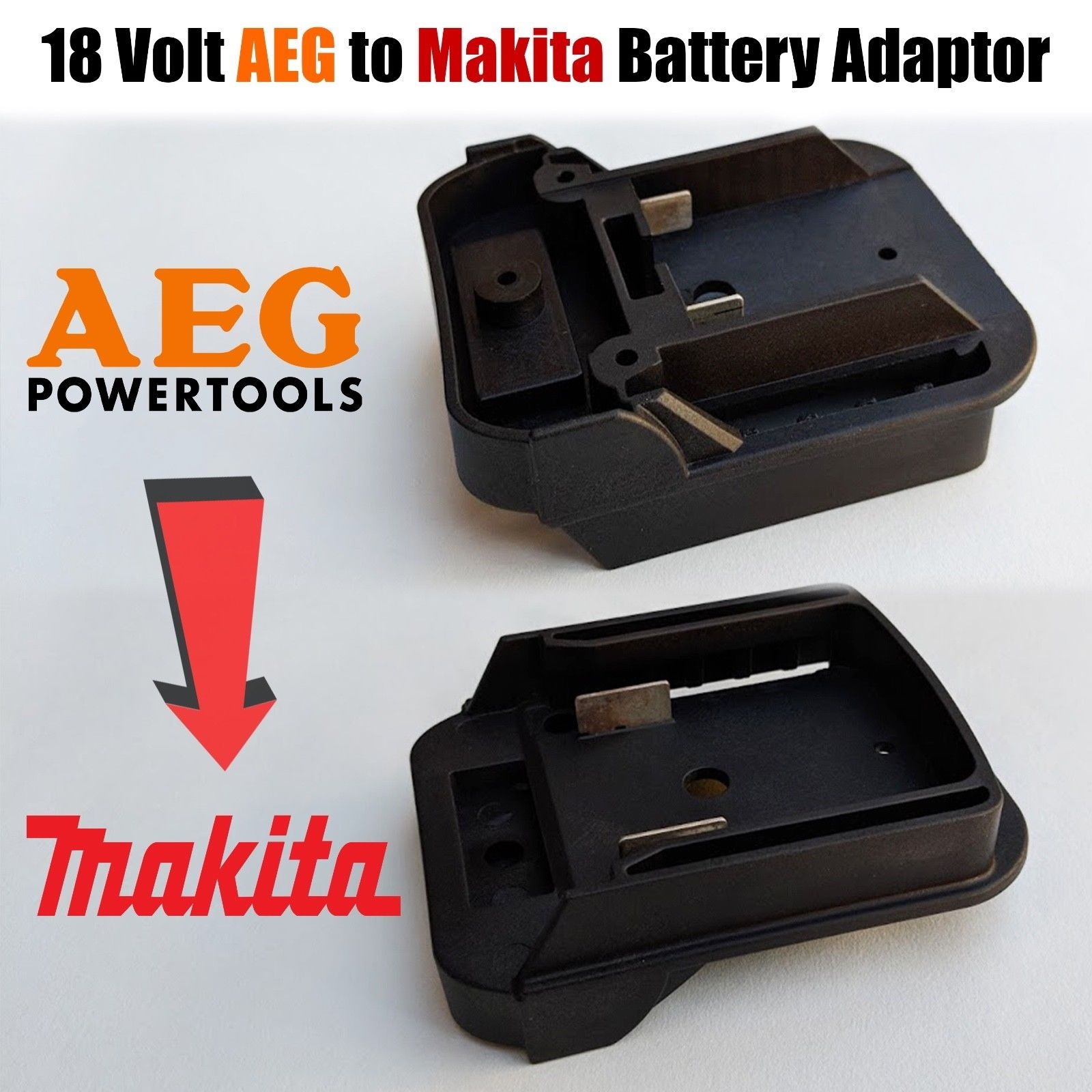 hight resolution of aeg to makita 18 volt battery adaptor plate converts twin pin 18v batteries