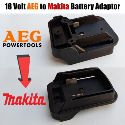 small resolution of aeg to makita 18 volt battery adaptor plate converts twin pin 18v batteries