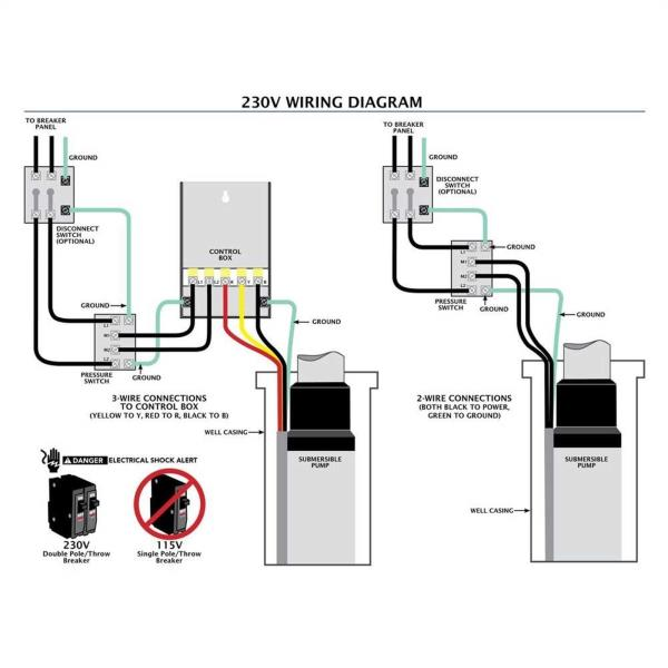 3 wire submersible pump wiring diagram  2007 ford ranger