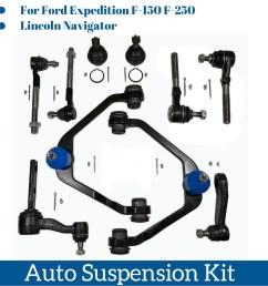 details about 10 pcs suspension part kits control arm ball joint tie rod end pitman idler arm [ 1600 x 1600 Pixel ]