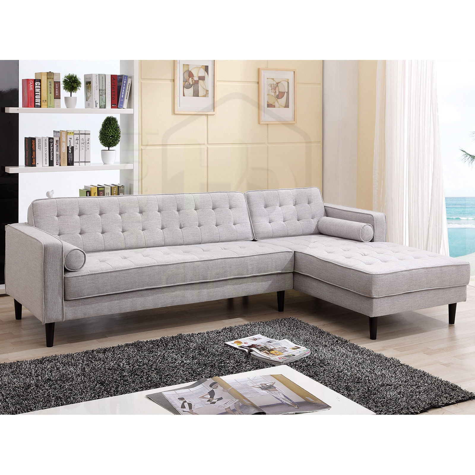 danish style sofa australia chadwick barker and stonehouse aiden scandinavian with chaise right ebay