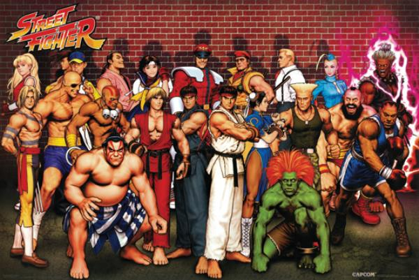 Street Fighter Characters 24x36 Poster Capcom Ryu Ken Video Game ...