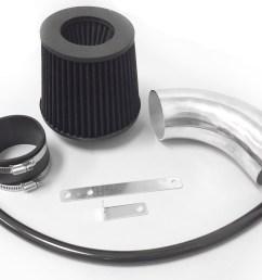 all black for 2012 2016 dodge charger srt8 6 4l v8 air intake kit filter [ 1446 x 1113 Pixel ]