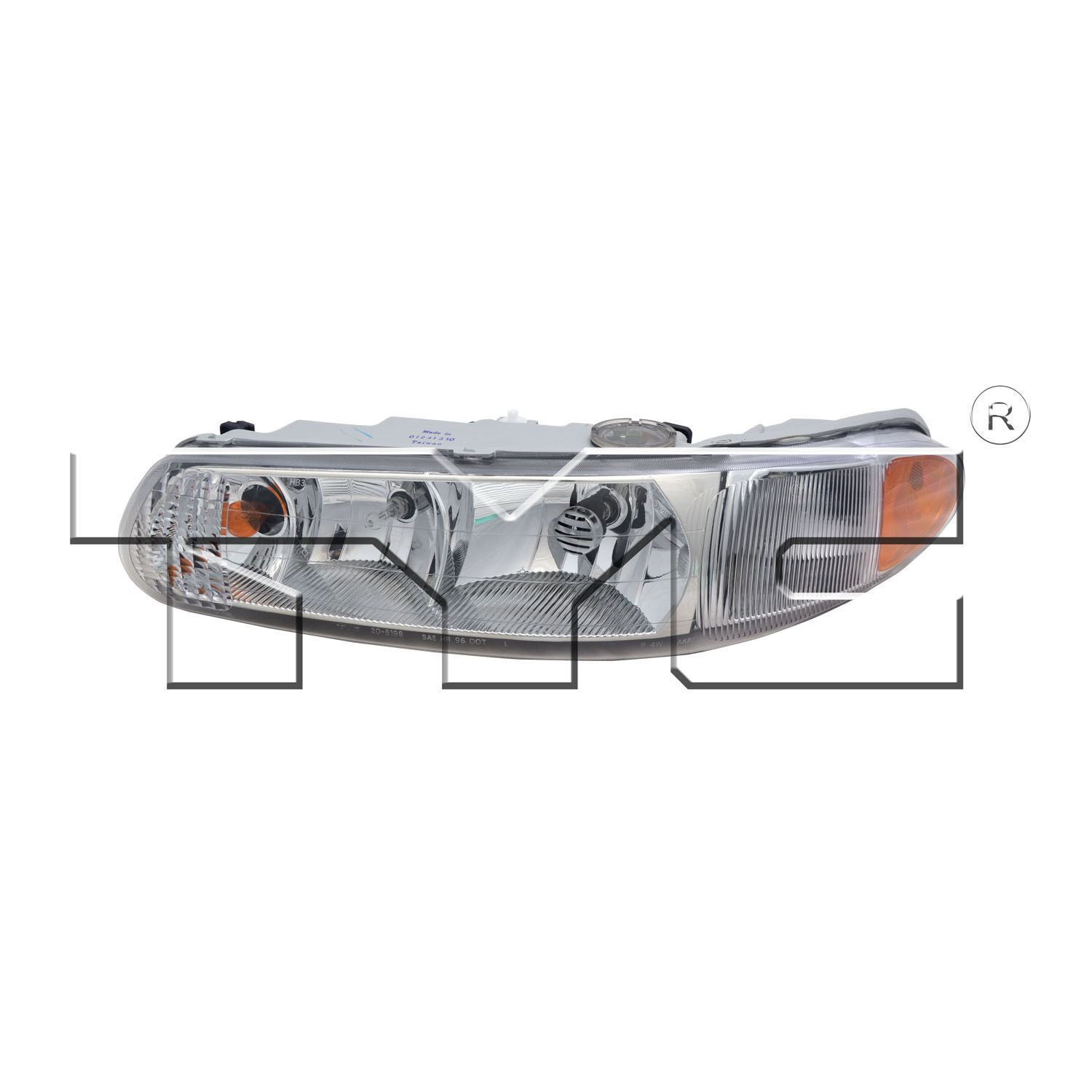hight resolution of left side headlight assembly for 1997 2004 buick regal 1997 2005 century