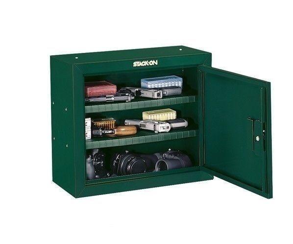 NEW Pistol Gun Security Cabinet Safe Storage Steel Metal Lock Ammo Handgun Green  eBay